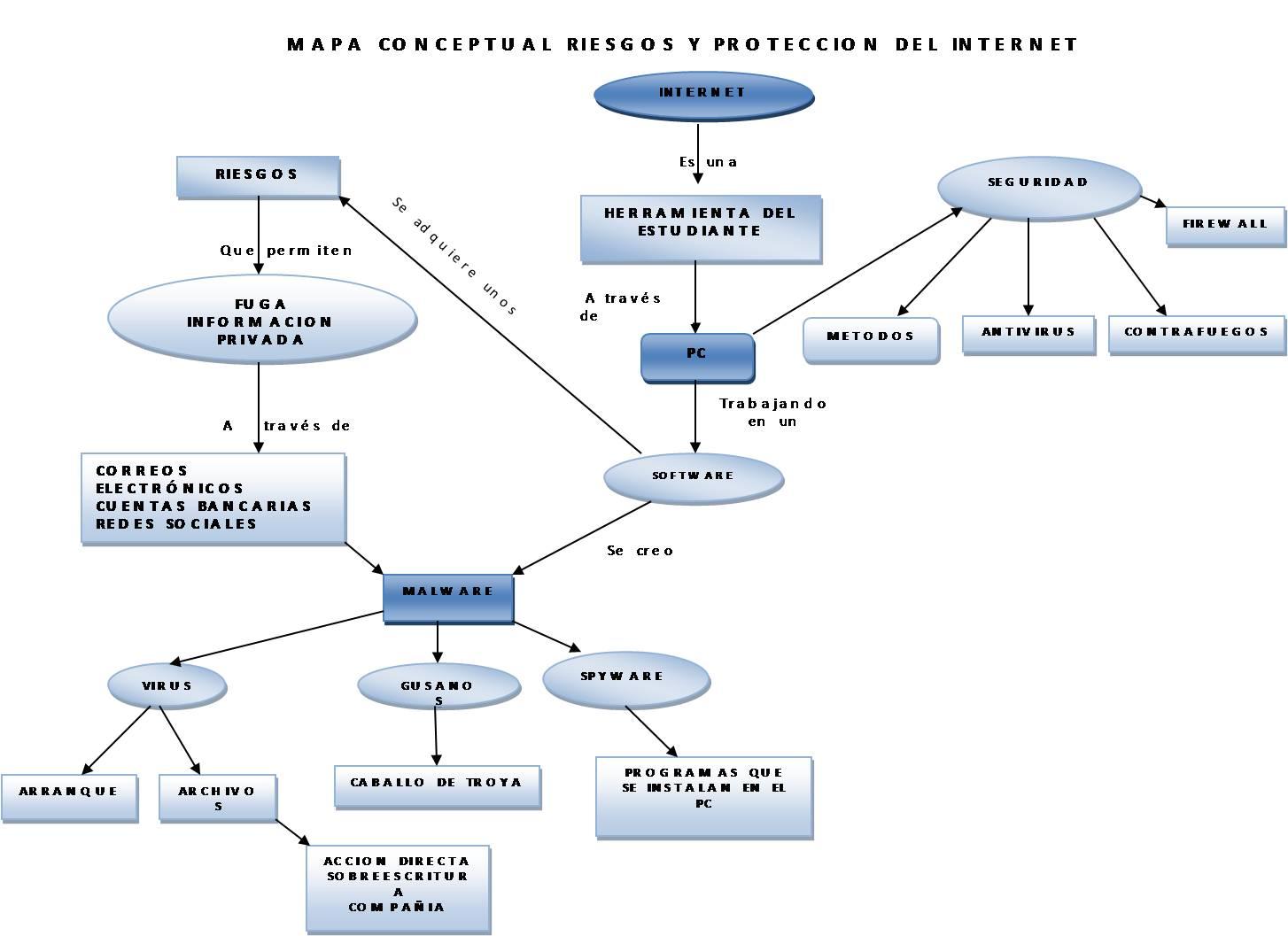 Mapa Conceptual Riesgos Y Proteccion En Internet Manual3